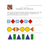 complete the patterns