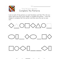 black and white patterns worksheet