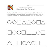 black and white pattern worksheet