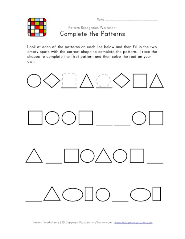 Difficult Pattern Recognition - Black and White Worksheet 2 | All ...