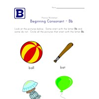 consonant b worksheet