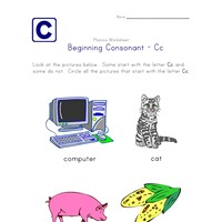 consonant c worksheet