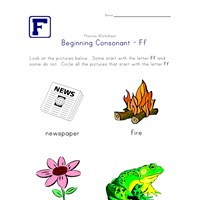 consonant f worksheet