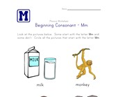 consonant m worksheet