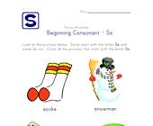 consonant s worksheet