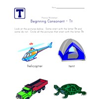 consonant t worksheet