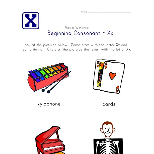 Beginning Consonants Worksheets | All Kids Network