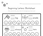 Patriotic Beginning Letters Worksheet