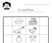 Beginning Sounds Cut and Paste Worksheet