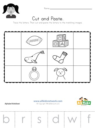 Beginning Sounds Cut and Paste Worksheet 2 | All Kids Network