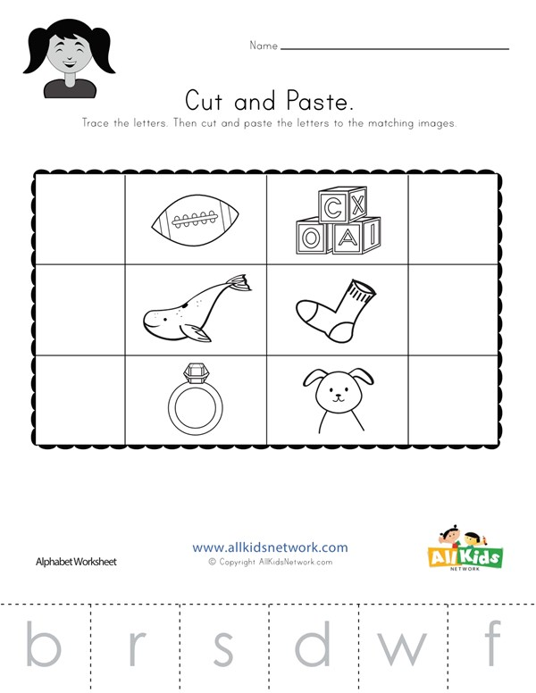 Beginning Sounds Cut And Paste Worksheet 2 All Kids Network