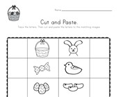 Easter Beginning Sounds Cut and Paste Worksheet