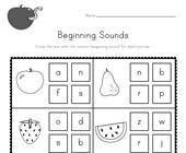 Fruit Beginning Sounds Worksheet