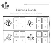 Spring Beginning Sounds Worksheet