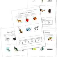 write the beginning sounds worksheets