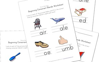 beginning consonant blends worksheets
