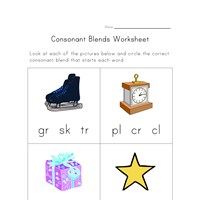 Printables Consonant Blends Worksheets consonant blends worksheet one of four all kids network