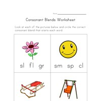Winter Worksheets Preschool Excel Beginning Consonant Blends Worksheet  One Of Four  All Kids Network Contractions Grammar Worksheets with Metals Nonmetals And Metalloids Worksheet Pdf  Least Common Multiple Worksheet Word