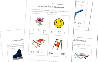 identify consonant blends worksheets