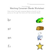 matching consonant blends worksheet 3