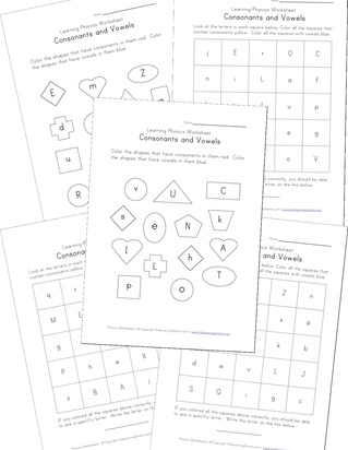 consonant vowels worksheets