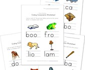 ending consonant worksheets