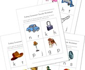 ending consonant sounds worksheets