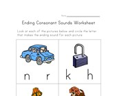 ending consonants worksheet four