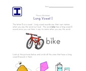 long i sound worksheet