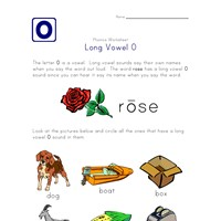 long o sound worksheet