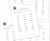 long vowel words worksheets