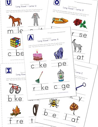 free long vowel worksheets