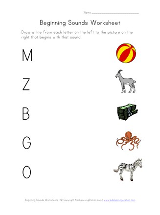 Phonics Sounds Worksheets - Letters B, G, M, O and Z | All