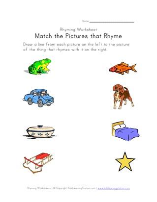 rhyming worksheets phonics for kids all kids network