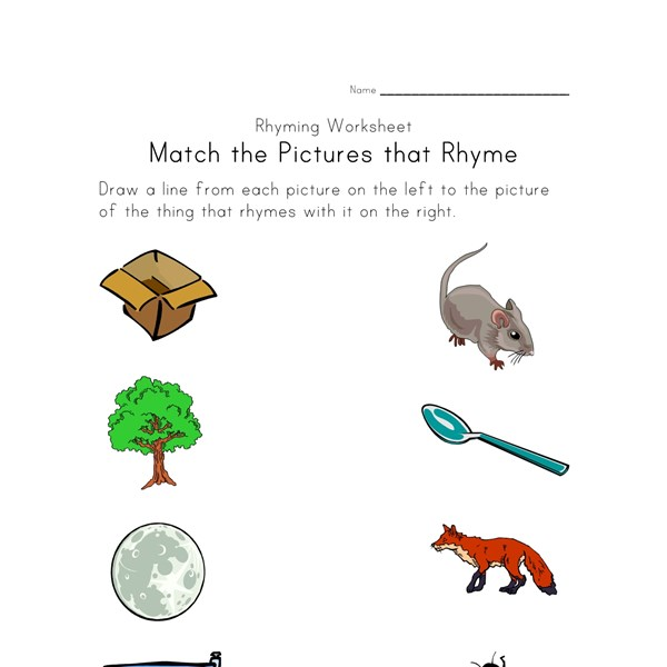 Worksheet Rhyming Words Worksheet rhyming worksheets phonics for kids all network