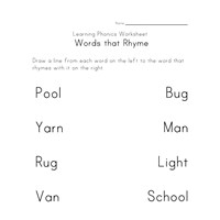 Printables Rhyming Worksheets rhyming worksheets phonics for kids all network