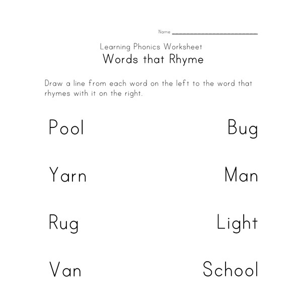 Worksheets Free Rhyming Worksheets rhyming worksheets phonics for kids all network
