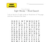 sight word search have, new, one, play, three, two, want and with