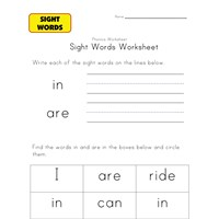sight words are in