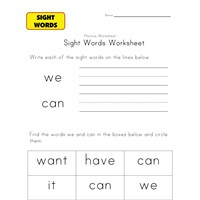 sight words we can