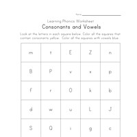 Printables Vowels And Consonants Worksheets consonants and vowel phonics worksheets all kids network