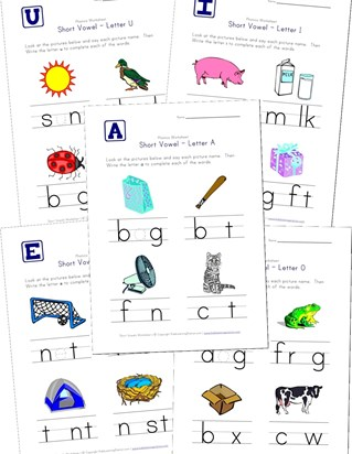 short vowels worksheets