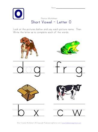 Short Vowel O Worksheet All Kids Network - 47+ Kindergarten Long Vowel O Worksheets Pictures