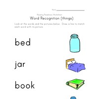 recognizing words worksheet