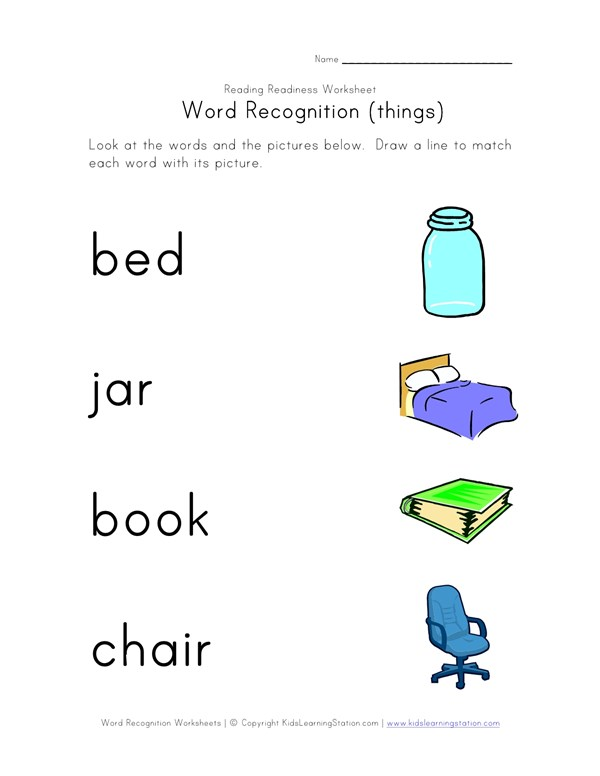 sc 1 st  All Kids Network & Recognize Words Worksheet | All Kids Network