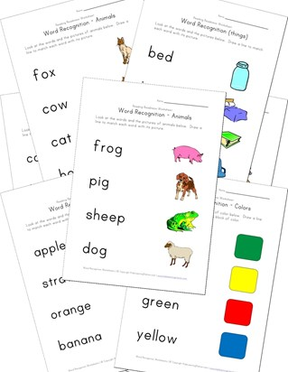 word recognition worksheets