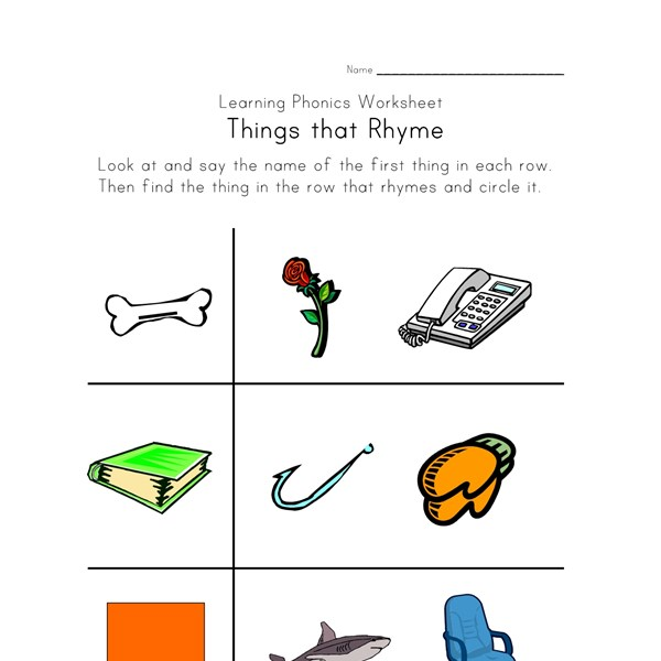 Worksheet Rhyming Worksheets rhyming worksheets phonics for kids all network