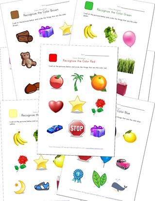 color recognition worksheets