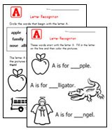 Printables Free Printable Letter Recognition Worksheets alphabet worksheets for preschool children all kids network