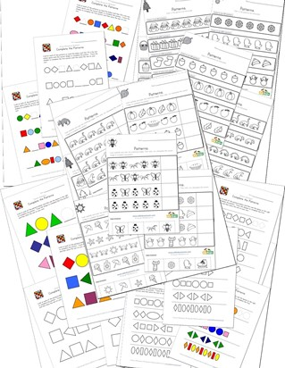 preschool pattern worksheets